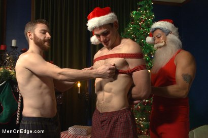 Photo number 2 from Happy Holidays Live Shoot - Vanta Claus brings two gifts for you! shot for Men On Edge on Kink.com. Featuring Jonah Marx and Sebastian Keys in hardcore BDSM & Fetish porn.