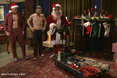Photo number 1 from Happy Holidays Live Shoot - Vanta Claus brings two gifts for you! shot for Men On Edge on Kink.com. Featuring Jonah Marx and Sebastian Keys in hardcore BDSM & Fetish porn.
