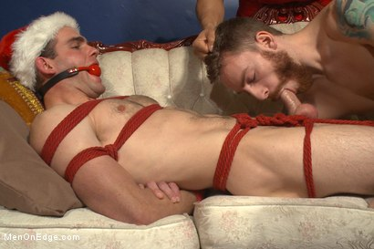 Photo number 5 from Happy Holidays Live Shoot - Vanta Claus brings two gifts for you! shot for Men On Edge on Kink.com. Featuring Jonah Marx and Sebastian Keys in hardcore BDSM & Fetish porn.