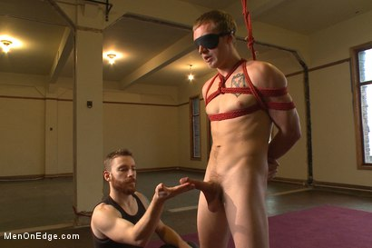 Photo number 1 from Hung southern stud shoots a hot load in his mouth shot for Men On Edge on Kink.com. Featuring Zane Anders in hardcore BDSM & Fetish porn.