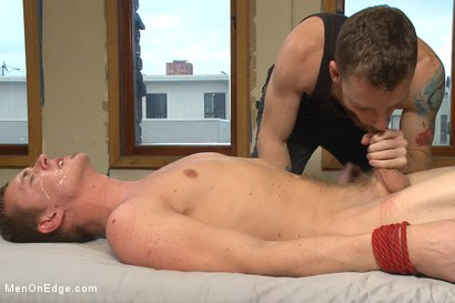 Photo number 14 from Hung southern stud shoots a hot load in his mouth shot for Men On Edge on Kink.com. Featuring Zane Anders in hardcore BDSM & Fetish porn.