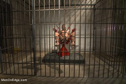 Photo number 4 from Edging hot, uncut cock in prison shot for Men On Edge on Kink.com. Featuring Alexander Gustavo in hardcore BDSM & Fetish porn.