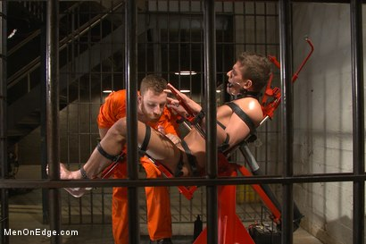 Photo number 7 from Edging hot, uncut cock in prison shot for Men On Edge on Kink.com. Featuring Alexander Gustavo in hardcore BDSM & Fetish porn.