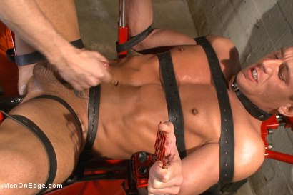Photo number 14 from Edging hot, uncut cock in prison shot for Men On Edge on Kink.com. Featuring Alexander Gustavo in hardcore BDSM & Fetish porn.