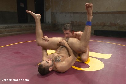 """Photo number 13 from Brock """"The Big Show"""" Avery vs Alexander """"The Great"""" Gustavo shot for nakedkombat on Kink.com. Featuring Alexander Gustavo and Brock Avery in hardcore BDSM & Fetish porn."""