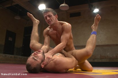 "Photo number 11 from Brock ""The Big Show"" Avery vs Alexander ""The Great"" Gustavo shot for Naked Kombat on Kink.com. Featuring Alexander Gustavo and Brock Avery in hardcore BDSM & Fetish porn."