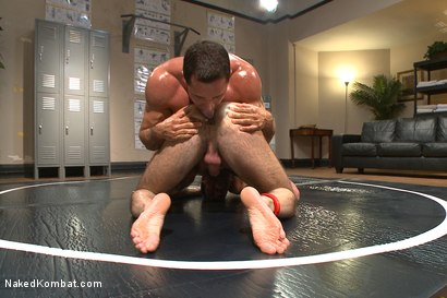 Photo number 3 from Top Cock: Huge muscles, raging hard cock and don't forget the oil! shot for Naked Kombat on Kink.com. Featuring Billy Santoro and Nick Capra in hardcore BDSM & Fetish porn.
