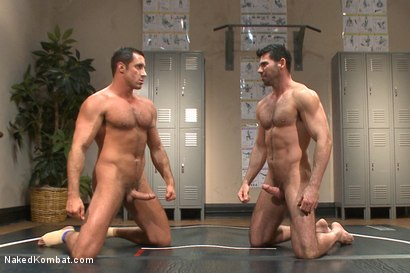 Photo number 15 from Top Cock: Huge muscles, raging hard cock and don't forget the oil! shot for Naked Kombat on Kink.com. Featuring Billy Santoro and Nick Capra in hardcore BDSM & Fetish porn.