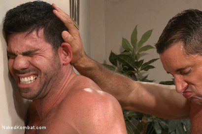 Photo number 10 from Top Cock: Huge muscles, raging hard cock and don't forget the oil! shot for Naked Kombat on Kink.com. Featuring Billy Santoro and Nick Capra in hardcore BDSM & Fetish porn.