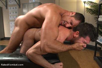 Photo number 11 from Top Cock: Huge muscles, raging hard cock and don't forget the oil! shot for Naked Kombat on Kink.com. Featuring Billy Santoro and Nick Capra in hardcore BDSM & Fetish porn.