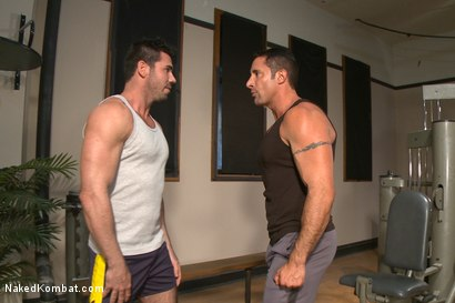 Photo number 1 from Top Cock: Huge muscles, raging hard cock and don't forget the oil! shot for Naked Kombat on Kink.com. Featuring Billy Santoro and Nick Capra in hardcore BDSM & Fetish porn.
