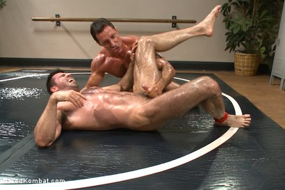 Photo number 4 from Top Cock: Huge muscles, raging hard cock and don't forget the oil! shot for Naked Kombat on Kink.com. Featuring Billy Santoro and Nick Capra in hardcore BDSM & Fetish porn.