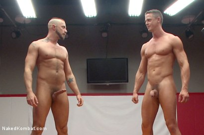 """Photo number 15 from Ivan """"The Terrible"""" Gregory vs Jessie """"Cut-Throat"""" Colter  shot for Naked Kombat on Kink.com. Featuring Jessie Colter and Ivan Gregory in hardcore BDSM & Fetish porn."""