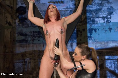 Photo number 5 from Ultimate Painslut Faces Off With Electricity shot for Electro Sluts on Kink.com. Featuring Chanel Preston and Sophia Locke in hardcore BDSM & Fetish porn.
