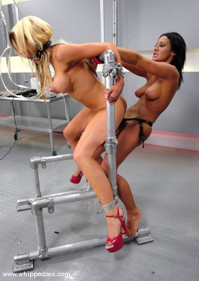 Photo number 14 from Sandra Romain and Gia Paloma shot for Whipped Ass on Kink.com. Featuring Sandra Romain and Gia Paloma in hardcore BDSM & Fetish porn.