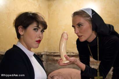 Photo number 3 from The Holiest of Holes: Anal Lesbian Blasphemy! shot for Whipped Ass on Kink.com. Featuring Mona Wales and Audrey Noir in hardcore BDSM & Fetish porn.