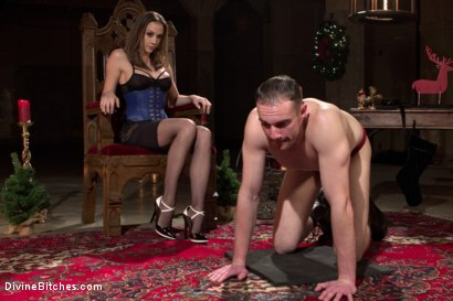 Photo number 11 from A Merry Coerced Cock-Sucking Christmas shot for Divine Bitches on Kink.com. Featuring Jimmy Bullet, Chanel Preston and Jonah Marx in hardcore BDSM & Fetish porn.