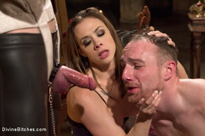 Photo number 7 from A Merry Coerced Cock-Sucking Christmas shot for Divine Bitches on Kink.com. Featuring Jimmy Bullet, Chanel Preston and Jonah Marx in hardcore BDSM & Fetish porn.
