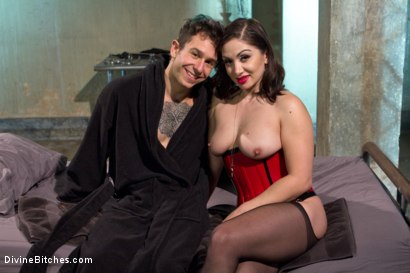 Photo number 18 from Divine Queen Lea & Princess Panties shot for Divine Bitches on Kink.com. Featuring Lea Lexis and Corbin Dallas in hardcore BDSM & Fetish porn.