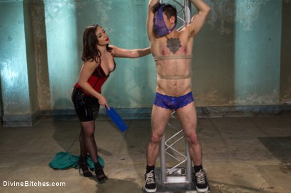 Photo number 6 from Divine Queen Lea & Princess Panties shot for Divine Bitches on Kink.com. Featuring Lea Lexis and Corbin Dallas in hardcore BDSM & Fetish porn.