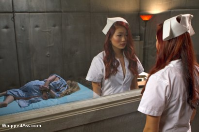 Photo number 1 from 18 Year Old Night Nurse shot for Whipped Ass on Kink.com. Featuring Aiden Starr and Lea Hart in hardcore BDSM & Fetish porn.