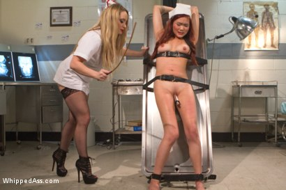 Photo number 2 from 18 Year Old Night Nurse shot for Whipped Ass on Kink.com. Featuring Aiden Starr and Lea Hart in hardcore BDSM & Fetish porn.