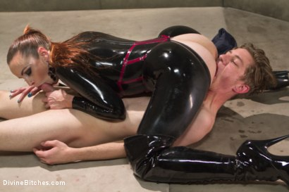Photo number 15 from Bella Breaks in a New Toy at the Divine Bitches Milking Facility! shot for Divine Bitches on Kink.com. Featuring Bella Rossi and Sam Solo in hardcore BDSM & Fetish porn.