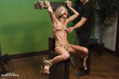 Photo number 11 from The Naive Model and the Creepy Photographer shot for Hogtied on Kink.com. Featuring Dakota Skye in hardcore BDSM & Fetish porn.