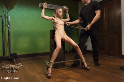 Photo number 8 from The Naive Model and the Creepy Photographer shot for Hogtied on Kink.com. Featuring Dakota Skye in hardcore BDSM & Fetish porn.