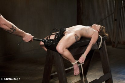 Photo number 7 from Tiny Slut, Big Pain!! shot for Sadistic Rope on Kink.com. Featuring Bailey Paige in hardcore BDSM & Fetish porn.