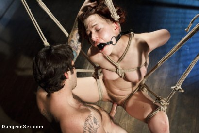 Photo number 2 from First Sex Scene Ever with Bondage!! shot for Dungeon Sex on Kink.com. Featuring Tommy Pistol and Ingrid Mouth in hardcore BDSM & Fetish porn.