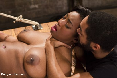 Photo number 12 from Voluptuous Ebony Babe is Tied and Fucked with 2 Massive Cocks!! shot for Brutal Sessions on Kink.com. Featuring Owen Gray, Lisa Tiffian and Mickey Mod in hardcore BDSM & Fetish porn.