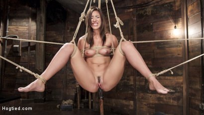 Photo number 11 from All Natural Beauty in Pile Driver Orgasm Overload shot for Hogtied on Kink.com. Featuring Rilynn Rae in hardcore BDSM & Fetish porn.