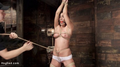 Photo number 5 from All Natural Beauty in Pile Driver Orgasm Overload shot for Hogtied on Kink.com. Featuring Rilynn Rae in hardcore BDSM & Fetish porn.