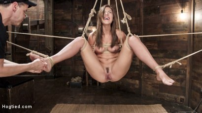 Photo number 13 from All Natural Beauty in Pile Driver Orgasm Overload shot for Hogtied on Kink.com. Featuring Rilynn Rae in hardcore BDSM & Fetish porn.