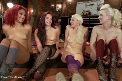 Photo number 15 from Christmas Slut Takedown! shot for Electro Sluts on Kink.com. Featuring Sheena Ryder, Cherry Torn, Lorelei Lee and Daisy Ducati in hardcore BDSM & Fetish porn.