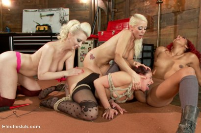 Photo number 12 from Christmas Slut Takedown! shot for Electro Sluts on Kink.com. Featuring Sheena Ryder, Cherry Torn, Lorelei Lee and Daisy Ducati in hardcore BDSM & Fetish porn.