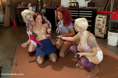 Photo number 5 from Christmas Slut Takedown! shot for Electro Sluts on Kink.com. Featuring Sheena Ryder, Cherry Torn, Lorelei Lee and Daisy Ducati in hardcore BDSM & Fetish porn.