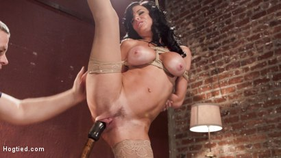 Photo number 8 from Nympho Anal MILF Double Penetration Squirt Fest shot for Hogtied on Kink.com. Featuring Veronica Avluv in hardcore BDSM & Fetish porn.