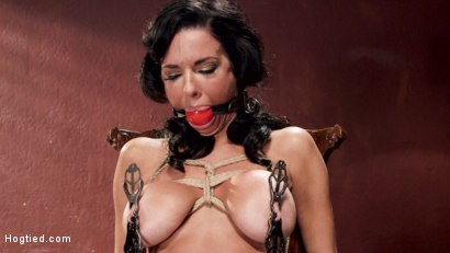 Photo number 3 from Nympho Anal MILF Double Penetration Squirt Fest shot for Hogtied on Kink.com. Featuring Veronica Avluv in hardcore BDSM & Fetish porn.