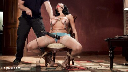 Photo number 5 from Nympho Anal MILF Double Penetration Squirt Fest shot for Hogtied on Kink.com. Featuring Veronica Avluv in hardcore BDSM & Fetish porn.