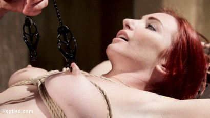 Photo number 7 from Redhead Take Down shot for Hogtied on Kink.com. Featuring Sophia Locke in hardcore BDSM & Fetish porn.