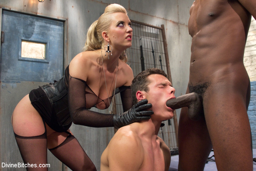 Caught bullied slave cock sucker
