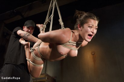 Photo number 9 from Dani Daniels DE-FUCKING-STROYED!!! shot for Sadistic Rope on Kink.com. Featuring Dani Daniels in hardcore BDSM & Fetish porn.