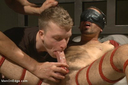 Photo number 11 from Extreme edging with advance bondage positions shot for Men On Edge on Kink.com. Featuring Elijah Wood in hardcore BDSM & Fetish porn.