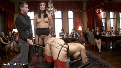Photo number 6 from A MILF and Cookies Brunch shot for The Upper Floor on Kink.com. Featuring John Strong, Rilynn Rae and Syren de Mer in hardcore BDSM & Fetish porn.