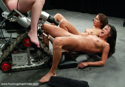 Photo number 14 from PART 1 of The Great Fuck Off: The Squirt Olympics. shot for Fucking Machines on Kink.com. Featuring Annie Cruz, Nadia Styles and Missy Monroe in hardcore BDSM & Fetish porn.