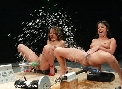Photo number 5 from PART 1 of The Great Fuck Off: The Squirt Olympics. shot for Fucking Machines on Kink.com. Featuring Annie Cruz, Nadia Styles and Missy Monroe in hardcore BDSM & Fetish porn.