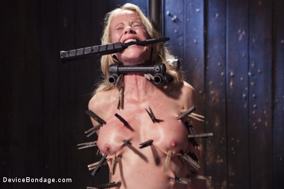 Photo number 2 from MILF gets tormented and machine fucked shot for Device Bondage on Kink.com. Featuring Orlando and Simone Sonay in hardcore BDSM & Fetish porn.