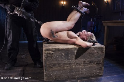 Photo number 4 from MILF gets tormented and machine fucked shot for Device Bondage on Kink.com. Featuring Orlando and Simone Sonay in hardcore BDSM & Fetish porn.